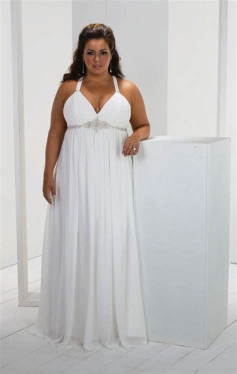 Plus size beach wedding dresses