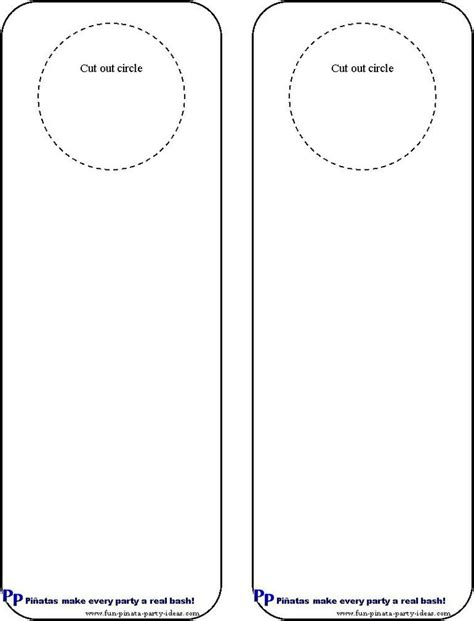 door hanging template cool idea for diy door hangers miscellaneous