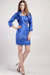 royal blue satin a line mini length wedding guest dresses