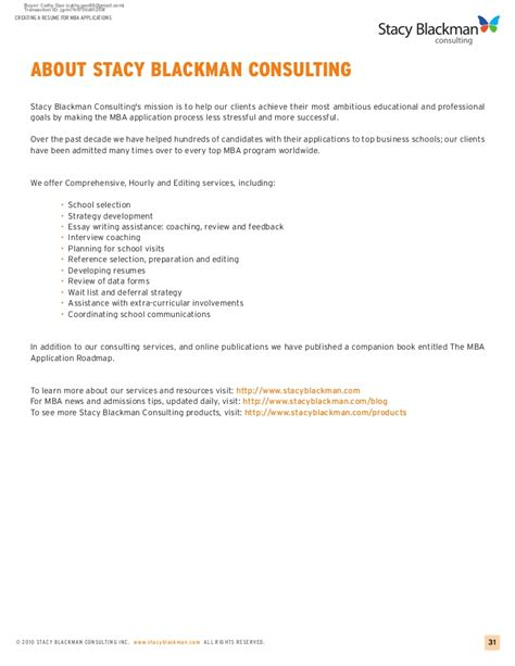 Resume Creating Application by Creating A Resume For Mba Applications