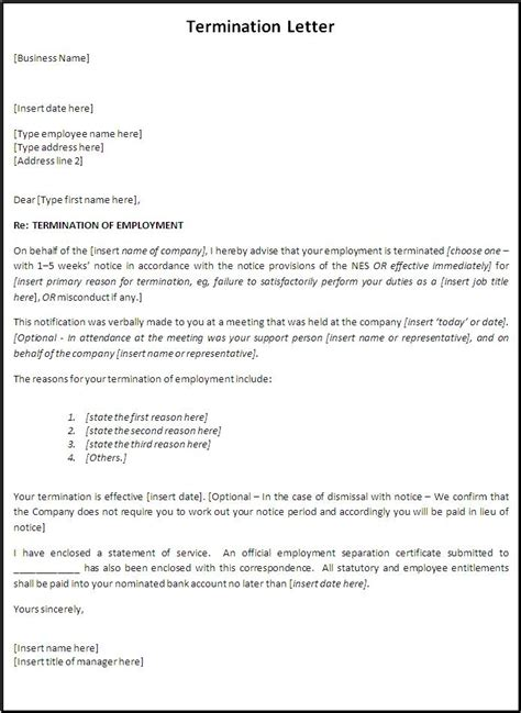 termination letter for bank account sle termination letter template letters free sle