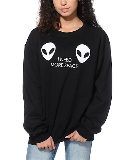 a lab glow in the need more space crew neck sweatshirt zumiez