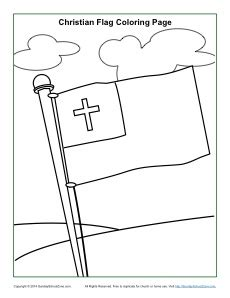 Christian Flag Coloring Page Christian Flag Coloring Page Sunday School Activities by Christian Flag Coloring Page