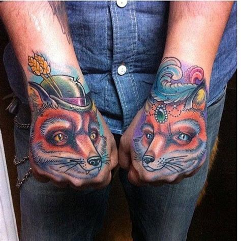 tattoo london reese foxy foxes hand tattoos by london reese tattooosss doe