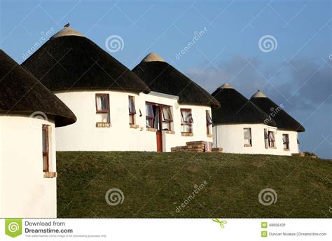 Vacation Cottage Plans holiday houses with thatched roof stock photo image