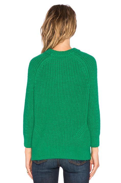 Sweater Chelsea H09 1 lyst demylee chelsea sweater in green
