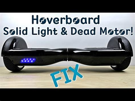 hoverboard blinking green light how to fix hoverboard troubleshoot red light blinking