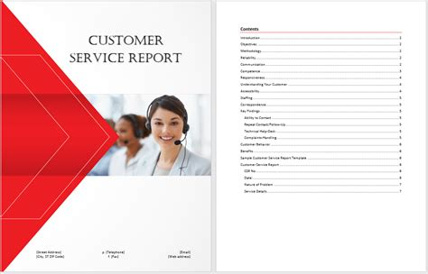 customer service report template microsoft word templates