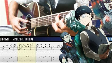 fingerstyle cover tutorial tokyo ghoul unravel op fingerstyle acoustic guitar