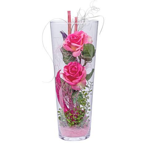 Deko In Vase by Deko Vase Rosa 40cm Und Pralinen Herzen