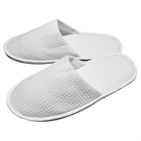 waffle slippers slippers waffle closed toe white 100 78p pair