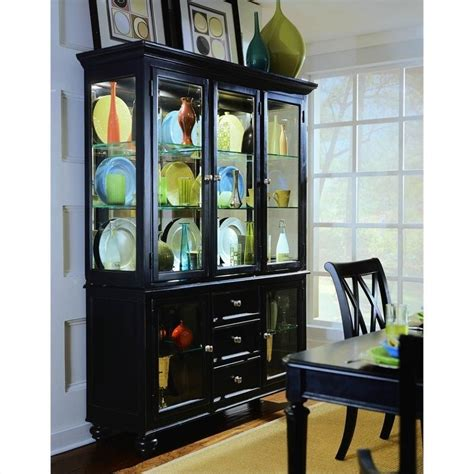 American Drew Camden Black China Cabinet   919 830R