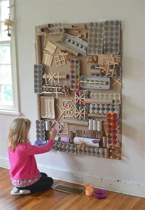 awesome recycled materials art wall recycled
