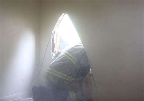 mason city firefighters conduct search  rescue training