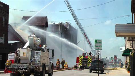 fort dodge iowa fire department fights blaze  downtown