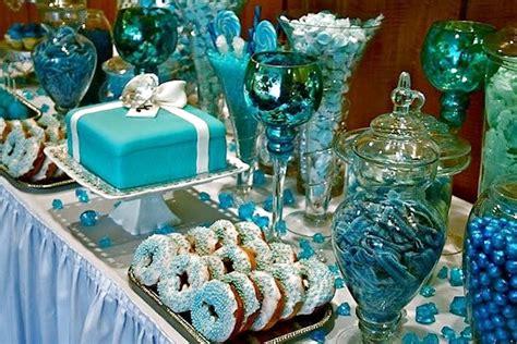 Sweet Sixteen Backyard Party Ideas Blue Candy Buffets Bitsy Bride