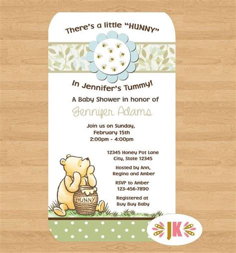 Classic Pooh Invitations Baby Shower by 1000 Ideas About Baby Shower On