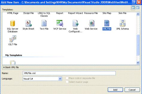 xml tutorial with c how to use xml in asp net