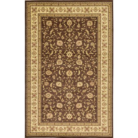 10 5 x 10 5 ft rug unique loom agra brown 10 ft 6 in x 16 ft 5 in area