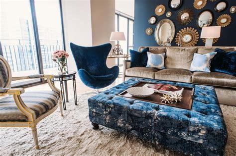 Navy Blue Coffee Table Navy Blue Coffee Table With Tufted Ottoman Roy Home Design