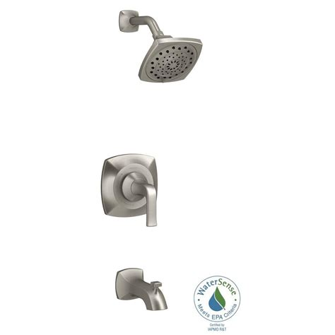 Bathroom Shower Hardware Kohler Rubicon 1 Handle 3 Spray Wall Mount Tub And Shower Faucet In Brushed Nickel R76217 4e Bn