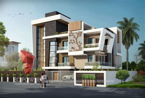 bungalow design township apartments design 3d rendering new modern