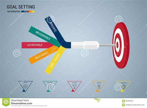 goal setting smart goal business concept infographic