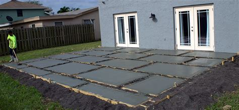 poured concrete patio create a stylish patio with large poured concrete pavers