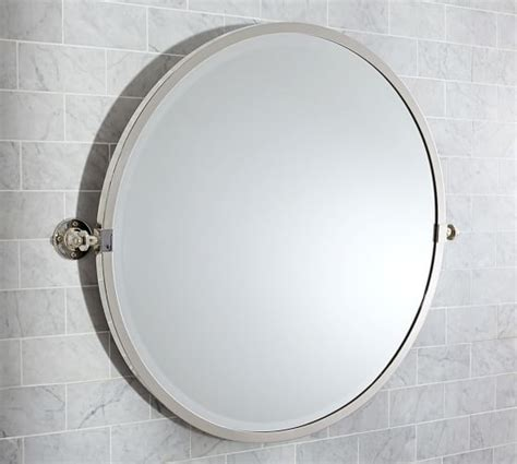 pivot bathroom mirror kensington pivot mirror pottery barn