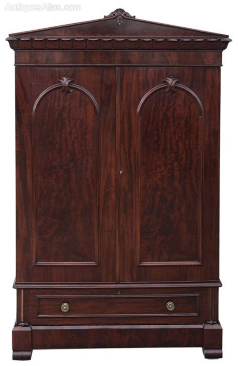 antique armoires and wardrobes william iv mahogany armoire wardrobe linen press