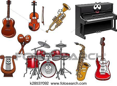 clipart strumenti musicali clipart divertente strumenti musicali cartone animato