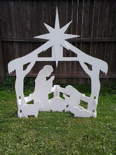 nativity outdoor decoration outdoor nativity outdoor wood yard