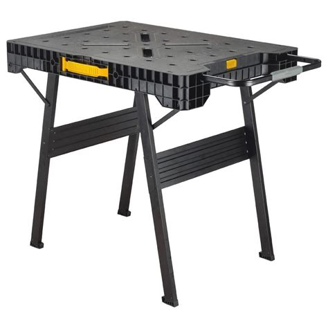 folding saw bench dewalt folding workbench dwst11556 tool craze