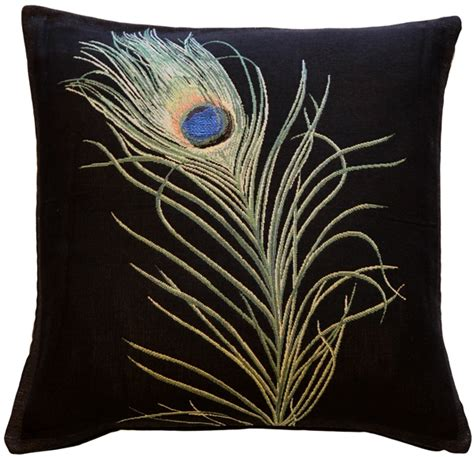 Feather Throw Pillow by Peacock Feather 19x19 Throw Pillow From Pillow D 233 Cor