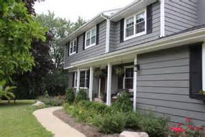 Exterior Paint Schemes For Ranch Homes - amherst gray by benjamin moore 12 oaks