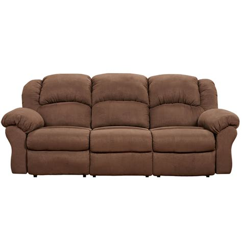 exceptional designs aruba chocolate microfiber reclining sofa 1003arubachocolate gg