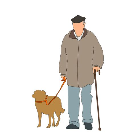 old houses old people old dogs free illustration old man dog walking vacation free image on pixabay 2672741