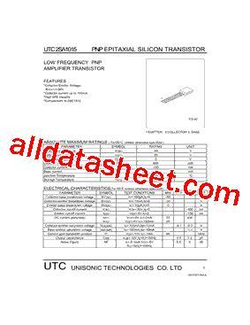 transistor a1015 datasheet a1015 datasheet pdf unisonic technologies
