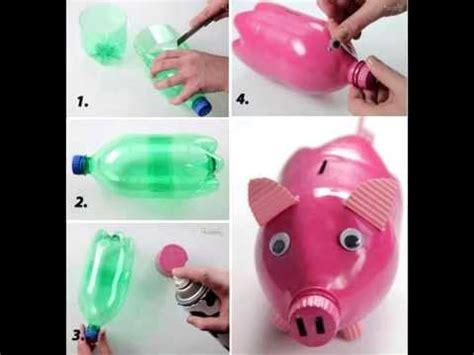 como hacer una alcancia con vasos plasticas 36 formas de reciclar plastico youtube