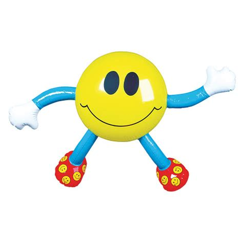 smile man inflatable character blow  novelty toy