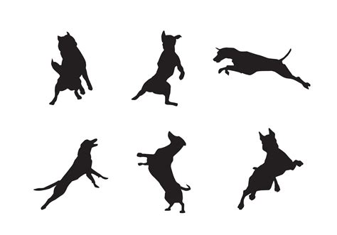 Free Jumping Dog Silhouette Vectors   Download Free Vector