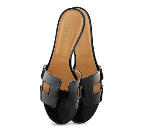 hermes womens sandals herm 232 s oasis in black lyst