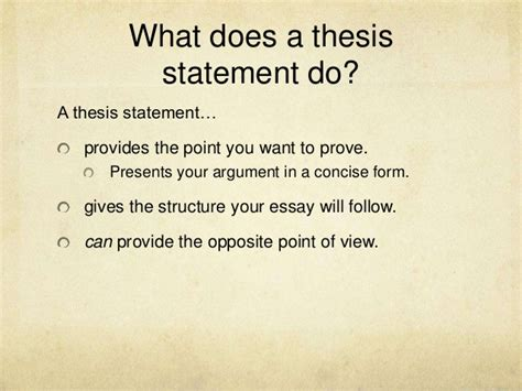 how to do a thesis thesis statements expanded version