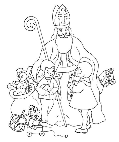 st nicholas coloring page coloring page nicholas day coloring pages