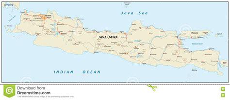 java karte indonesien stock abbildung bild von stra 223 e