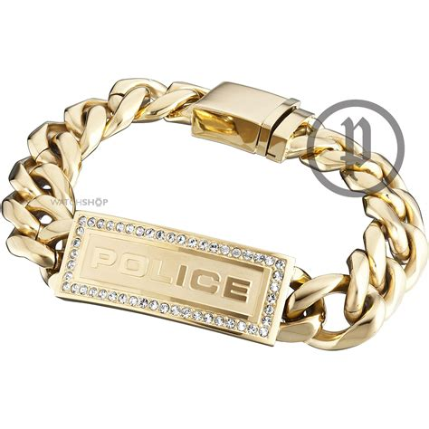 Men's Police PVD Gold plated Lowrider Bracelet Small (25143BSG/01 S)   WATCH SHOP.com?