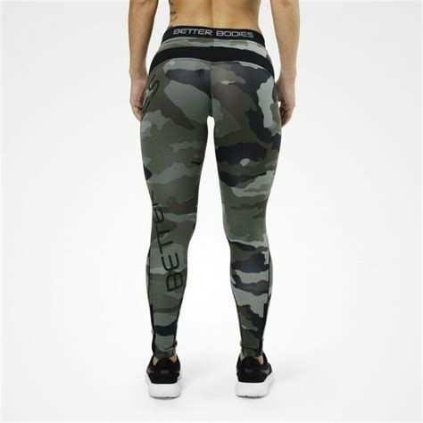 Legging Senam Better Bodies Camo Printed Made In camo tights by better bodies