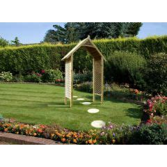 Wooden Garden Arch With Planters by Wooden Garden Arch With Planters In Stock Now