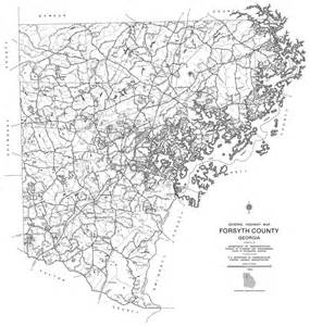 maps forsyth county 1995 dot highway map georgiainfo