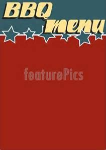 4th of july menu template templates vintage style bbq menu template stock